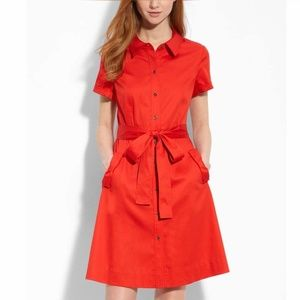 Kate Spade Harriet Red Shirt Dress 10